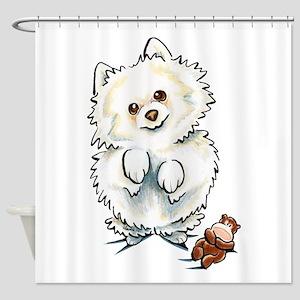 Pomeranian Boo Shower Curtain