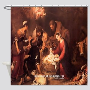 Adoration of the Shepherds 1668 Shower Curtain