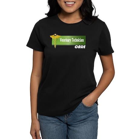 Veterinary Technicians Care Women's Dark T-Shirt