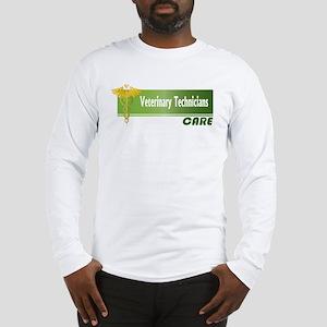 Veterinary Technicians Care Long Sleeve T-Shirt
