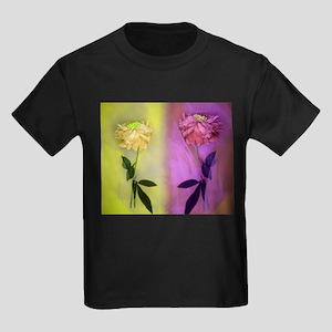 300dpi Flower net Yellow VIOLET 2 together T-Shirt
