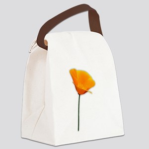 California Poppy Canvas Lunch Bag