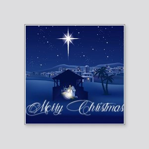 Merry Christmas Nativity Sticker