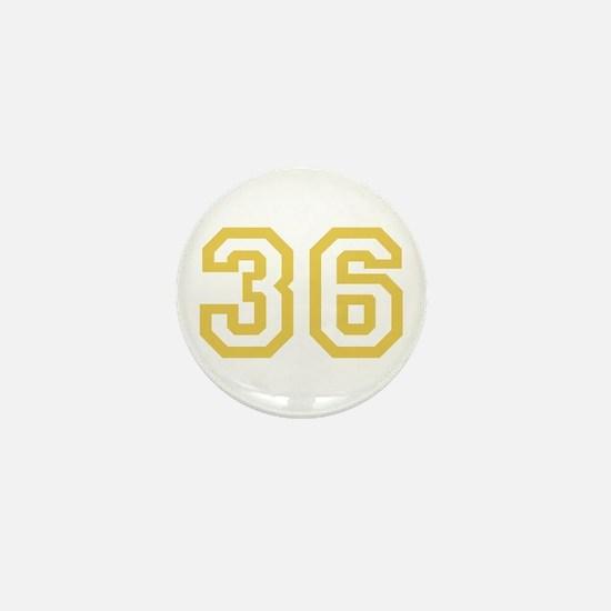 GOLD #36 Mini Button