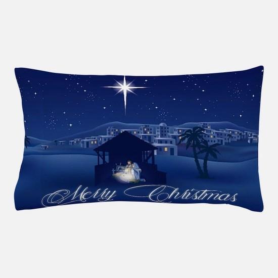 Merry Christmas Nativity Pillow Case