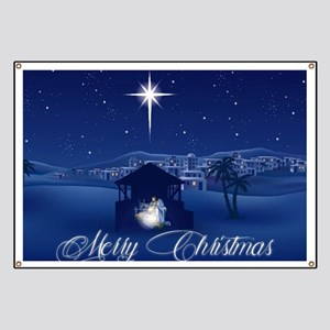 Merry Christmas Nativity Banner