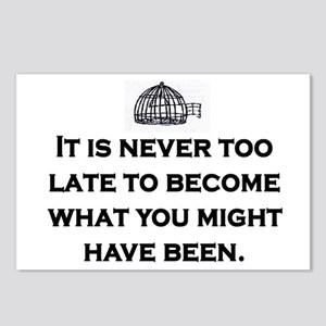 NEVER TOO LATE Postcards (Package of 8)