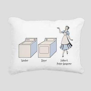 W-D-F&PA Rectangular Canvas Pillow