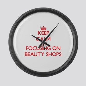Beauty Shops Large Wall Clock