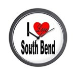 I Love South Bend Wall Clock