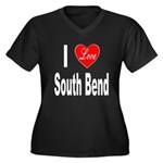 I Love South Bend (Front) Women's Plus Size V-Neck