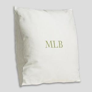 Gold Initials Burlap Throw Pillow