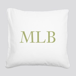 Gold Initials Square Canvas Pillow