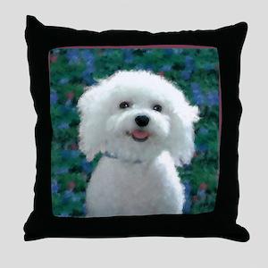 Bichon Frise Charmer Throw Pillow