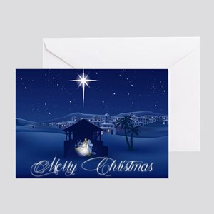 Merry Christmas Nativity Greeting Cards
