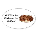 Christmas Waffles Sticker (Oval 50 pk)