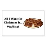 Christmas Waffles Sticker (Rectangle 50 pk)