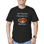 Christmas Waffles Men's Fitted T-Shirt (dark)