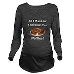 Christmas Waffles Long Sleeve Maternity T-Shirt