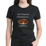 Christmas Waffles Women's Dark T-Shirt