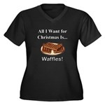 Christmas Wa Women's Plus Size V-Neck Dark T-Shirt