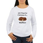 Christmas Waffles Women's Long Sleeve T-Shirt