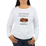 Christmas Waffles Women's Long Sleeve T-Shirt