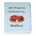Christmas Waffles baby blanket