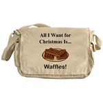 Christmas Waffles Messenger Bag
