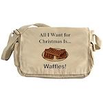 Christmas Waffles Messenger Bag