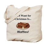Christmas Waffles Tote Bag