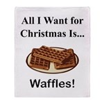 Christmas Waffles Throw Blanket