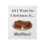 Christmas Waffles Throw Blanket