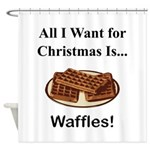Christmas Waffles Shower Curtain