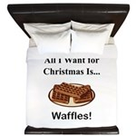 Christmas Waffles King Duvet