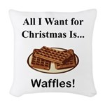 Christmas Waffles Woven Throw Pillow
