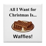 Christmas Waffles Tile Coaster