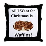 Christmas Waffles Throw Pillow