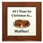 Christmas Waffles Framed Tile