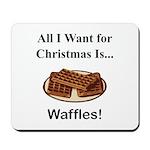 Christmas Waffles Mousepad