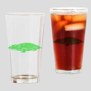 Green Crocodile Drinking Glass