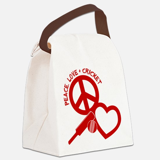 PEACE-LOVE-CRICKET Canvas Lunch Bag