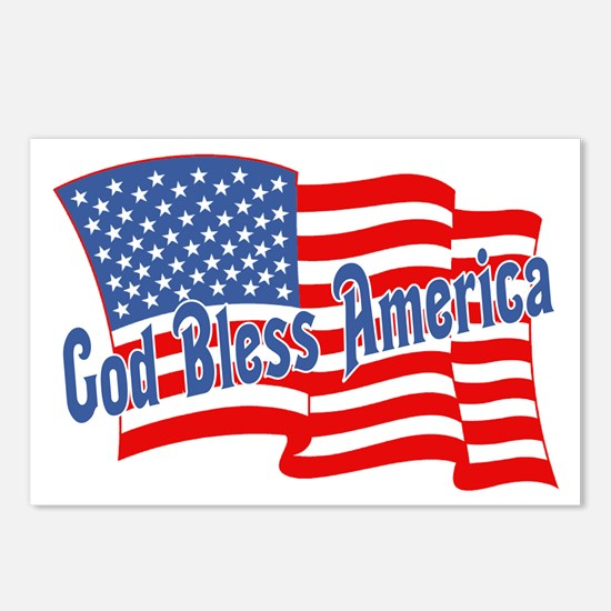 GOD BLESS AMERICA July 4th Postcards (Package of 8