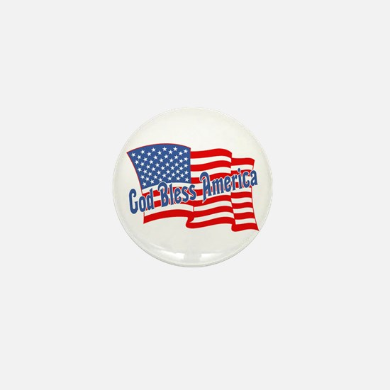 GOD BLESS AMERICA July 4th Mini Button (10 pack)