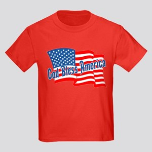 GOD BLESS AMERICA July 4th Kids Dark T-Shirt