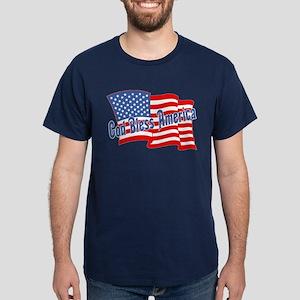 GOD BLESS AMERICA July 4th Dark T-Shirt