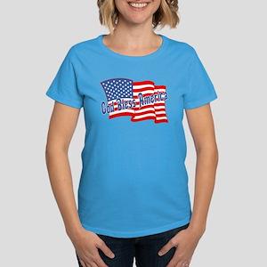 GOD BLESS AMERICA July 4th Women's Dark T-Shirt