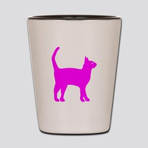 Pink Cat Shot Glass