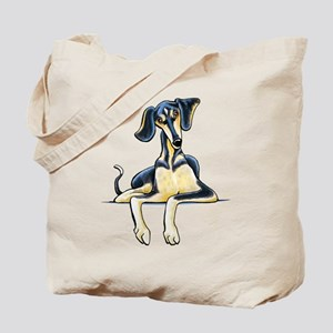 Smooth Saluki Emil Tote Bag