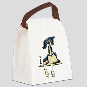 Smooth Saluki Emil Canvas Lunch Bag